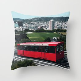 Wellington, New Zealand Travel Artwork Throw Pillow