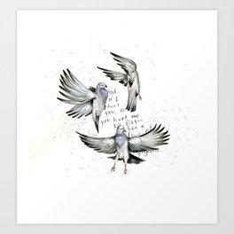 Flee Art Print