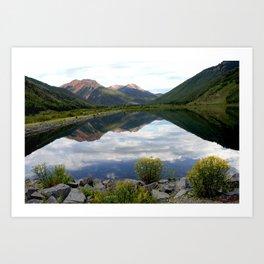 Crystal Lake on the Million Dollar Highway, elevation 9,611 feet Art Print