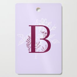 B - Floral Letter Cutting Board