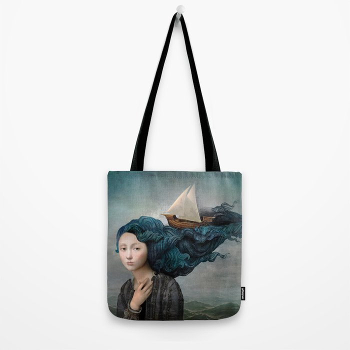 message from the sea tote bag by christianschloe society6. Black Bedroom Furniture Sets. Home Design Ideas