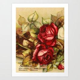 Frank, L. - Emma V. Catalogue 1921 - Red Roses Art Print