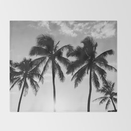 Hawaiian Palms II Throw Blanket
