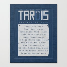 The Doctor's TARDIS: Touring Company Canvas Print