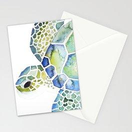 Sea Turtle - coastal - beach - sealife - ocean animals Stationery Cards