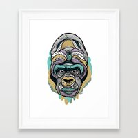 gorilla Framed Art Prints featuring Gorilla by casiegraphics