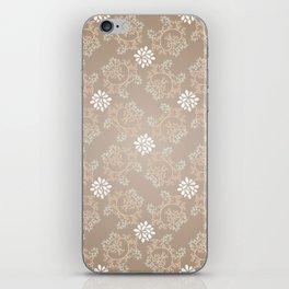 Beige silk iPhone Skin
