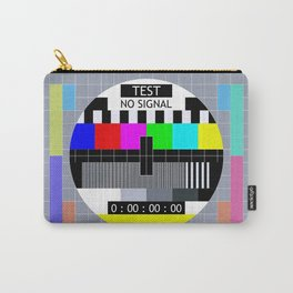 Retro TV Test Pattern Carry-All Pouch