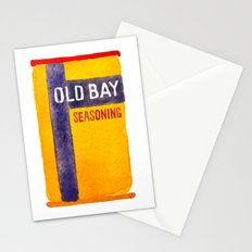 Old Bay Tin Baltimore Crab Watercolor Stationery Cards