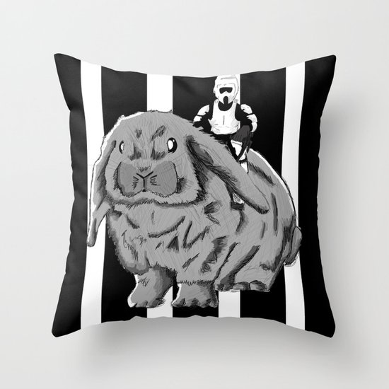Rabbit Speeder Throw Pillow