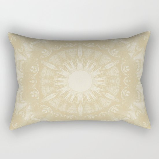 Peaceful kaleidoscope in beige Rectangular Pillow