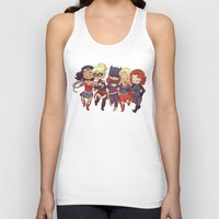 superheros Tank Tops featuring Super BFFs by Dooomcat