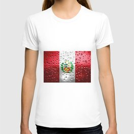 Flag of Peru - Raindrops T-shirt