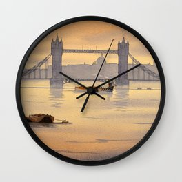 Tower Bridge and St Paul's Cathedral London Wall Clock
