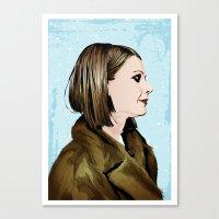 tenenbaum Canvas Prints featuring Margot Tenenbaum by The Art Warriors