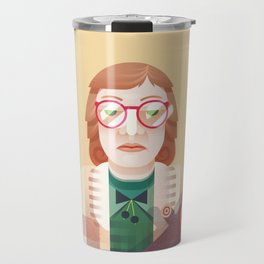 Log Lady   Twin Peaks Travel Mug
