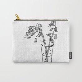 Bluebells Botanical Flower Illustration - Continuous Line Drawing - Floral Sketch Carry-All Pouch