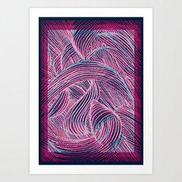 Curly lines II Art Print