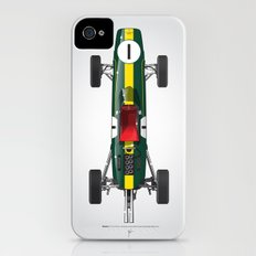Outline Series N.º1, Jim Clark, Lotus 25-Coventry Climax 1962 Slim Case iPhone (4, 4s)