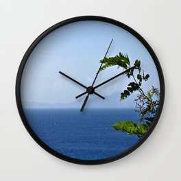 Leaves and Mountains Wall Clock
