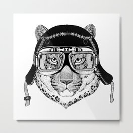 Leopard Speed Rebel Metal Print