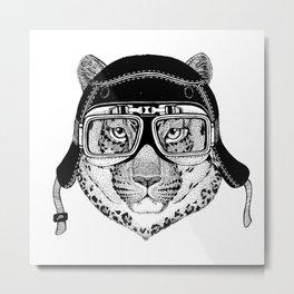 Leopard Speed Rebel Metal Print