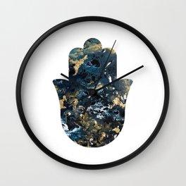 Fluid Hamsa Wall Clock