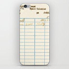 Library Card 797.B7 iPhone Skin