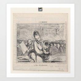La Muse de la Brasserie, from 'A la Brasserie,' published in Le Charivari, January 21, 1864,January Art Print