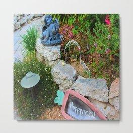 Nap in the Garden, California Style Metal Print