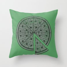 Slice of sewer life Throw Pillow