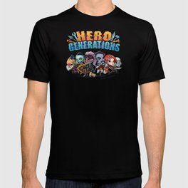 Hero Generations by Heart Shaped Games T-shirt