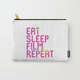 Eat Sleep Film Repeat Movie Set Carry-All Pouch