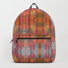 Muticolored Shibori Tie Dye Backpack