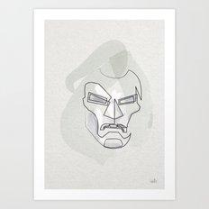 One Line Mask of Doom Art Print