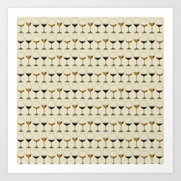 Vintage Wine Glasses Art Print