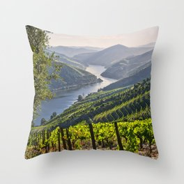 Vineyards along the Douro Valley, Portugal Throw Pillow