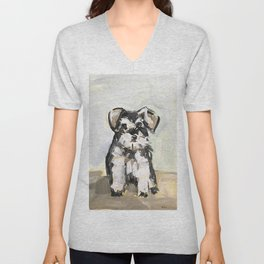 Little Schnauzer Unisex V-Neck