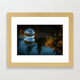 Refraction and Reflection Meet  Castle Lake reflections on the water Framed Art Print