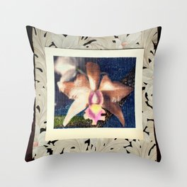 Not Your Usual Corsage Cattleya Throw Pillow