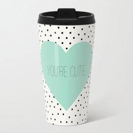 You're cute heart polka dots Travel Mug
