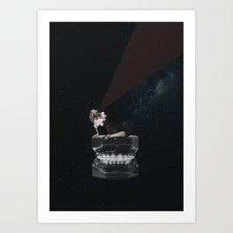 Tooth Terror Art Print