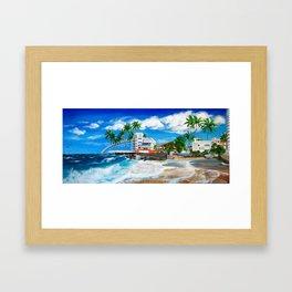 Isla Verde - $1M View, Carolina, San Juan, Puerto Rico Framed Art Print