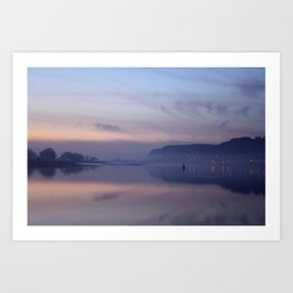 sunset on the clyde  Art Print