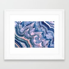 Agate ornaments Framed Art Print