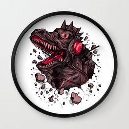 Dino with Headphones Finn Wall Clock