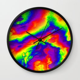 Psychedelic  Fire Wall Clock