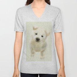 Jindo puppy Unisex V-Neck