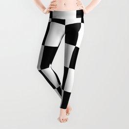 Large Checkered - White and Black Leggings