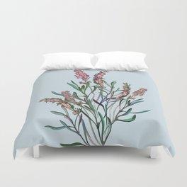 lavender vintage drawing floral spring Duvet Cover